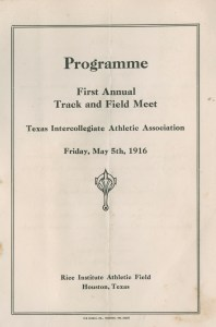 Programme for track meet 1916