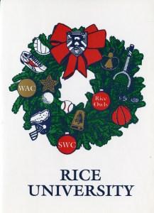 Christmas card athletics