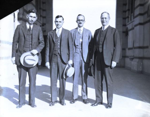 Lovett with strangers 1930 bowler