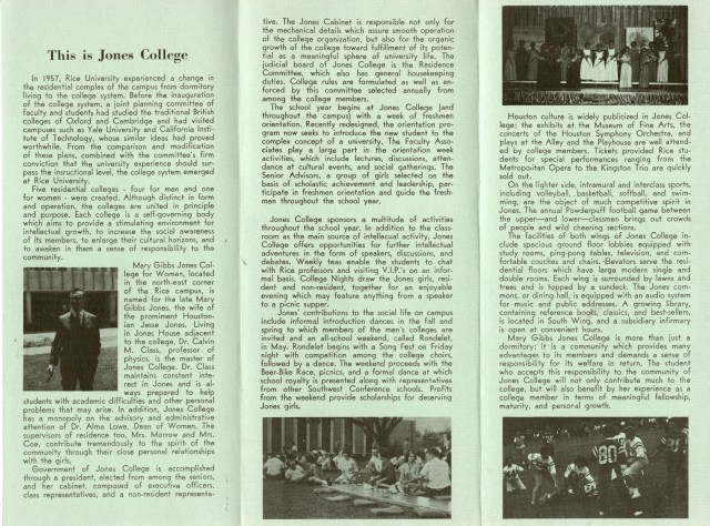 Introducing Jones College 1962