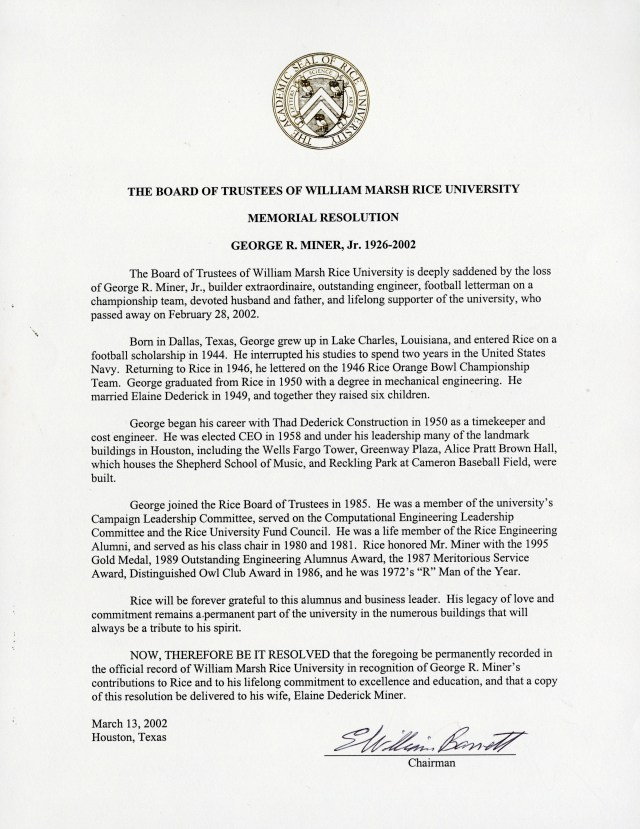 New George Miner resolution 2002