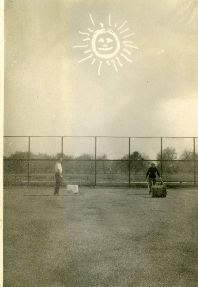 Rolling tennis courts nd but teens    050