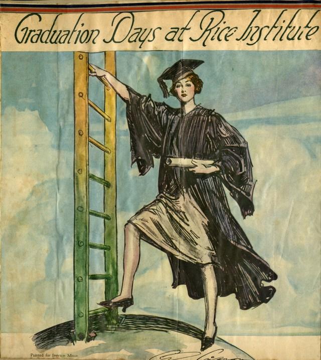 New Graduation Days at Rice Institute 1929 Howze scrapbook