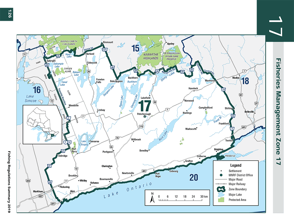 2019 Ontario Zone 17 Fishing Regulations