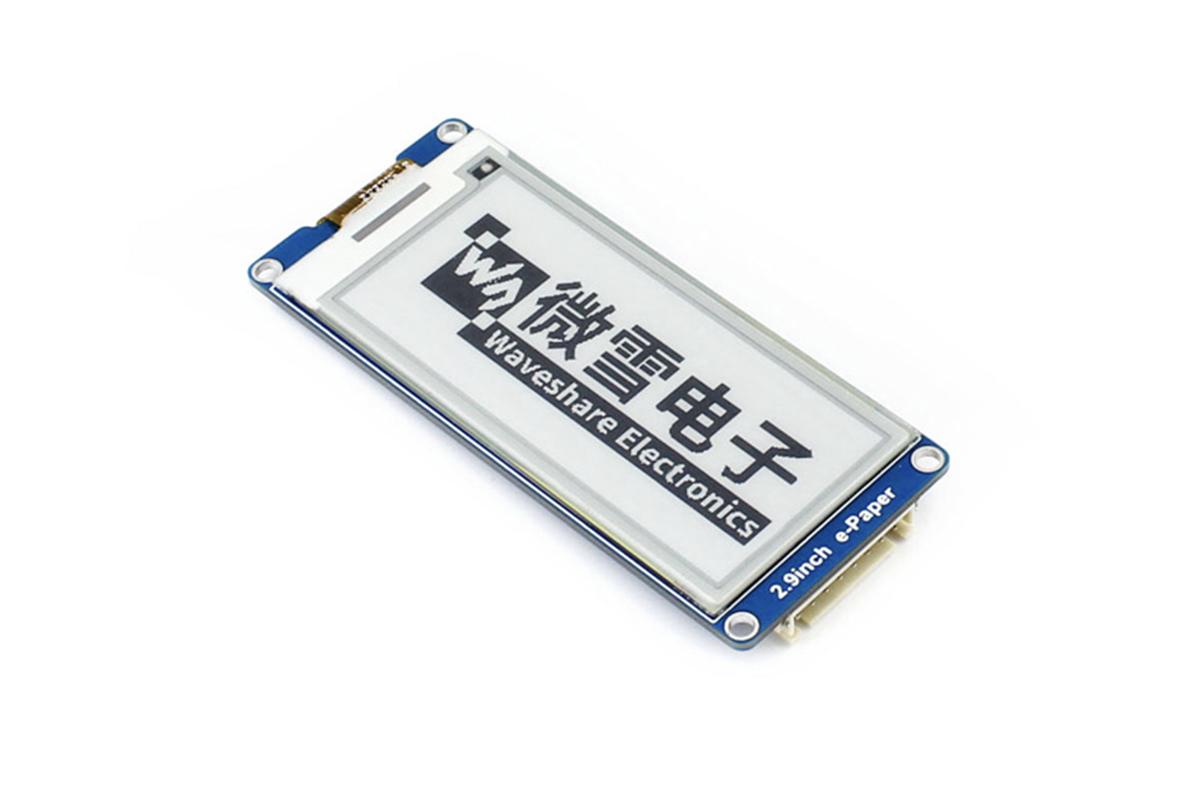 Waveshare 2.9 吋 e-paper 電子墨水螢幕 (296x128) - RICELEE