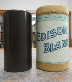 Left to Right: Wax Cylinder and Canister, n.d.