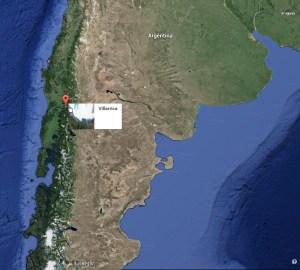 Villarrica Volcano on Google Map.