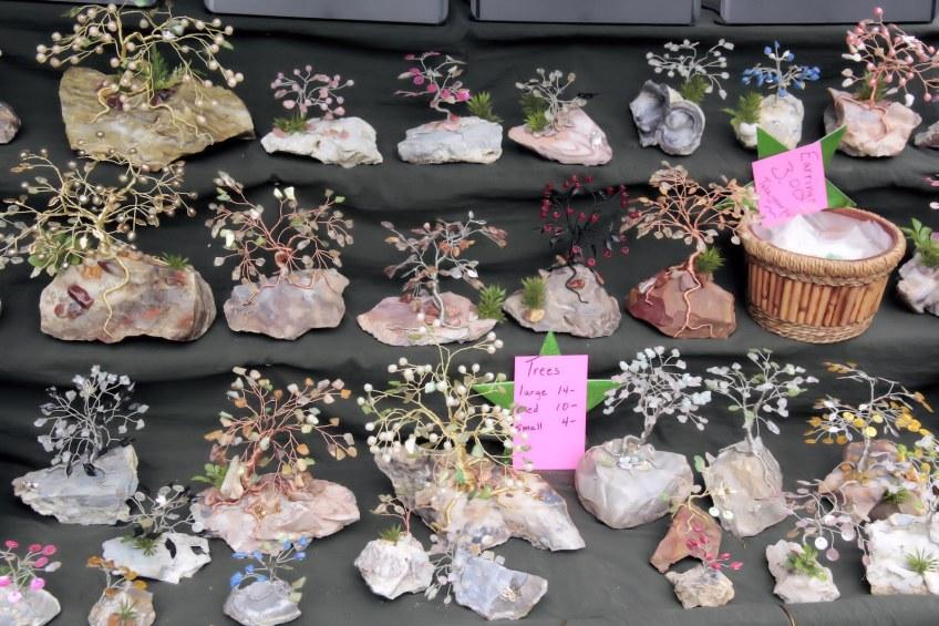 Gem Trees for sale at Summer Fest vendor booth.