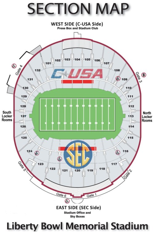 small resolution of liberty bowl seating map