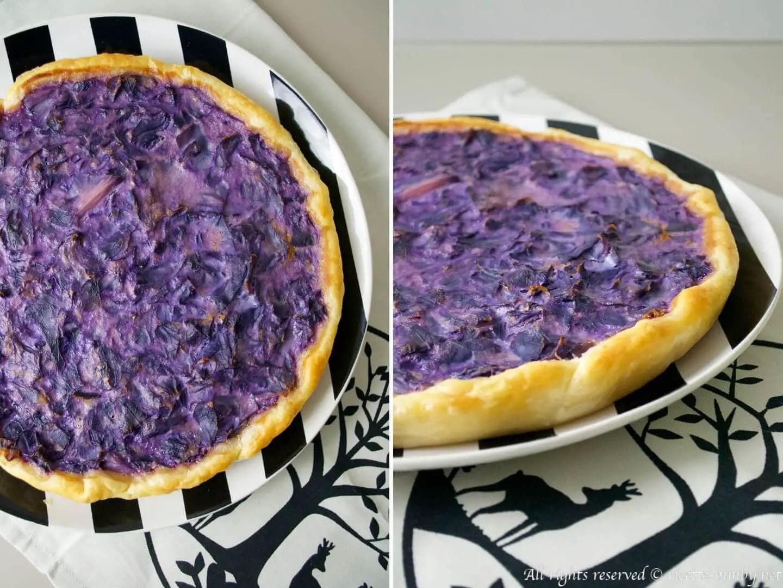 Torta salata al cavolo cappuccio viola Bimby  Ricette Bimby