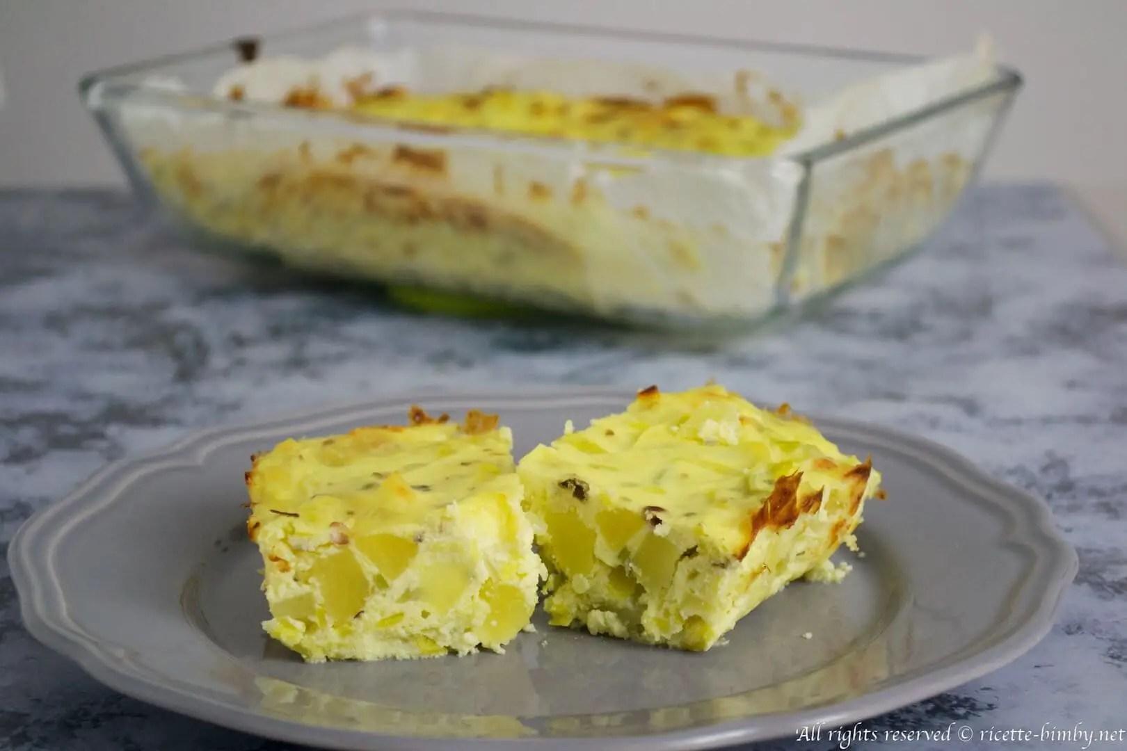 Sformato di patate e porri Bimby  Ricette Bimby
