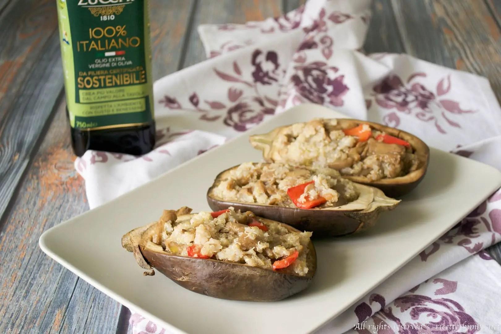 Melanzane ripiene di quinoa Bimby  Ricette Bimby