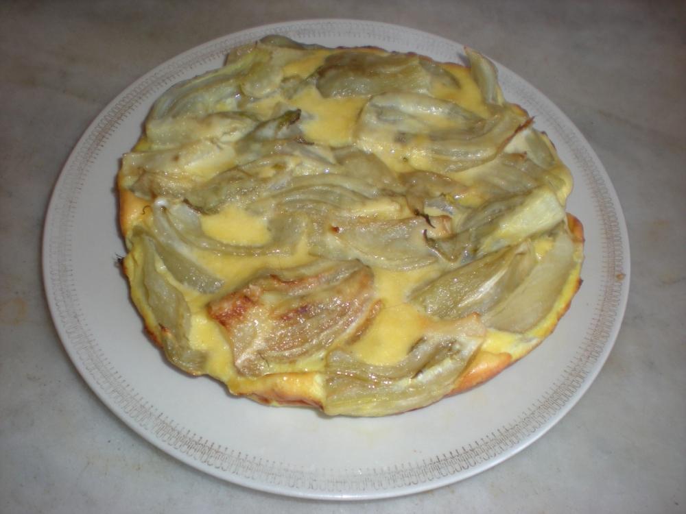 Ricetta Torta di finocchi al forno calorie e valori