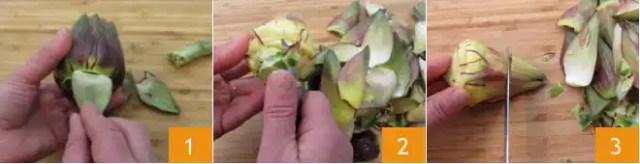 Alcachofas en la sartén