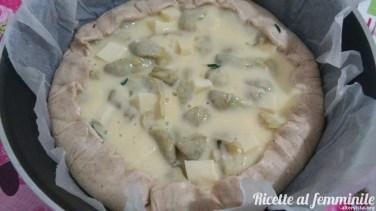 Torta salata ai carciofi con pasta al vino - torta-salata-carciofi