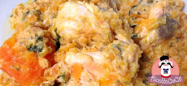 Salmone fresco e Carote con il Cuisine Companion bocconcini salmone carote svezzamento bambini monsier cuisine moncu moulinex cuisine companion ricette cuco bimby