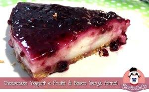 cheesecake senza forno senza cottura yogurt frutti di bosco facile microonde monsieur cuisine moncu moulinex cuisine companion ricette cuco bimby