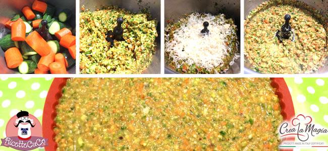 sformato zucchine carote menta microonde stampo crostata crea la magia monsieur cuisine moulinex cuisine companion ricette cuco bimby ricettecuco