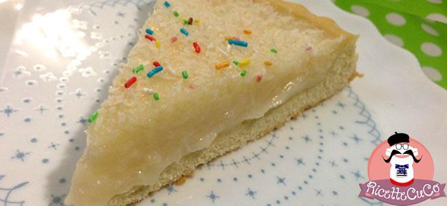 crostata morbida crema latte di cocco base pan di spagna senza lievito monsieur cuisine moncu moulinex cuisine companion ricette cuco bimby