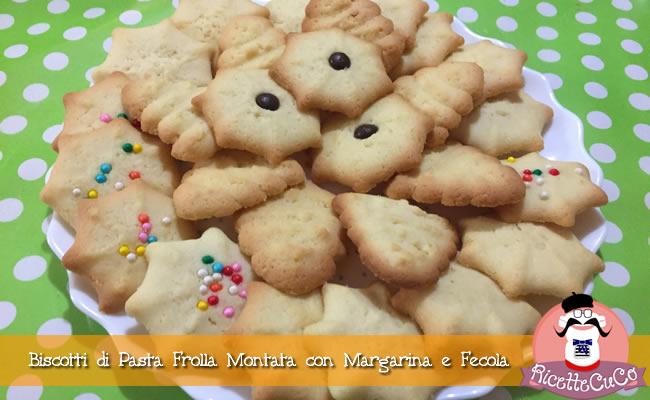 Biscotti di Pasta Frolla Montata con Margarina e Fecola sparabiscotti planetaria biscotti da the monsieur cuisine moncu moulinex cuisine companion ricette cuco bimby