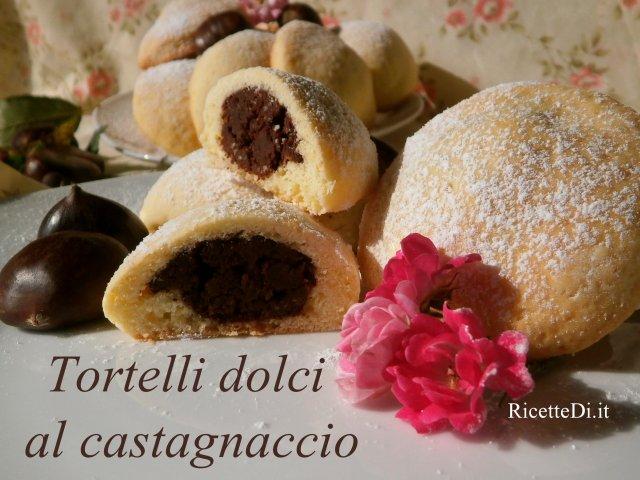 tortelli dolci al castagnaccio