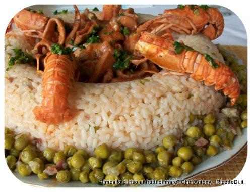 timballo di riso ai frutti di mare
