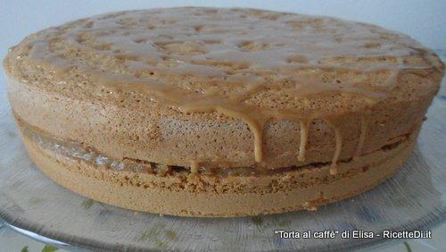 torta con crema al caffe