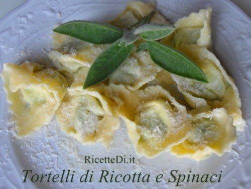 tortelli di ricotta e spinaci con burro e salvia