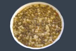 Pasta con le lenticchie (4 persone)