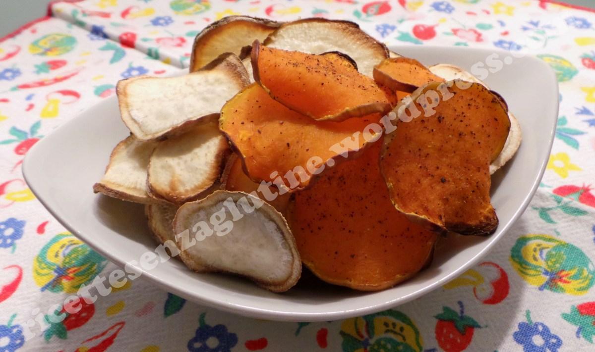 Chips di Patate Dolci e Zucca al Forno  Ricette senza Glutine