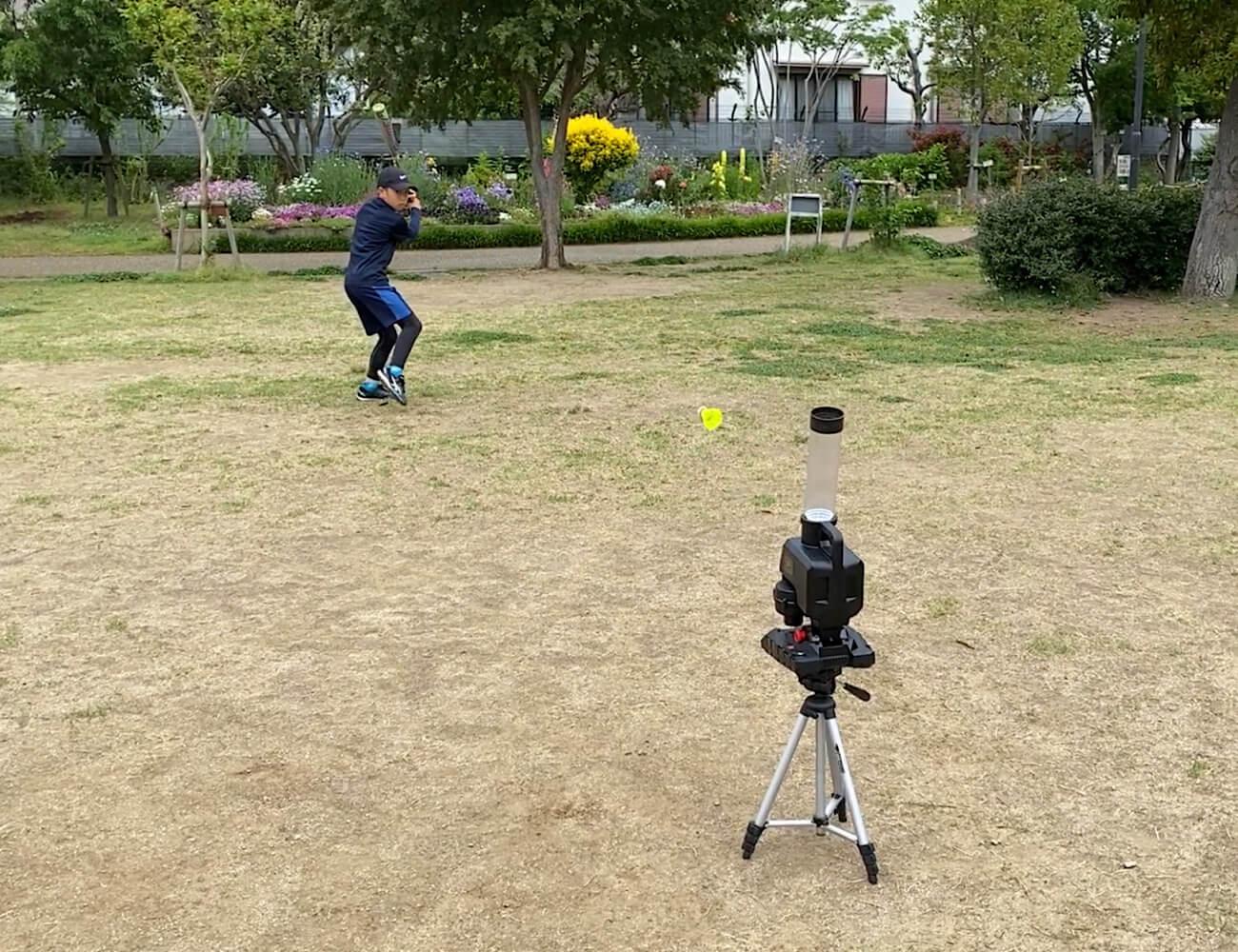 小学生でも一人で出来るバッティング練習/スピードシャトルマシン