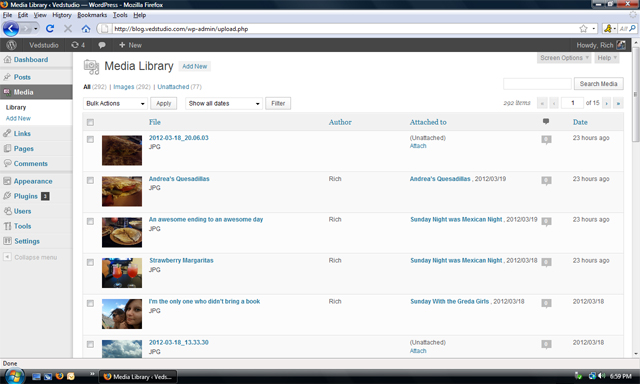 WordPress AutoMedia Plugin Screenshot