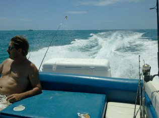 Danny on a boat ride