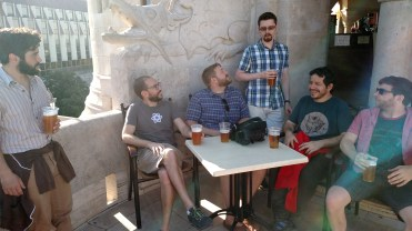 Beers in Buda castle (Budapest)