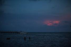 Docked at sunset