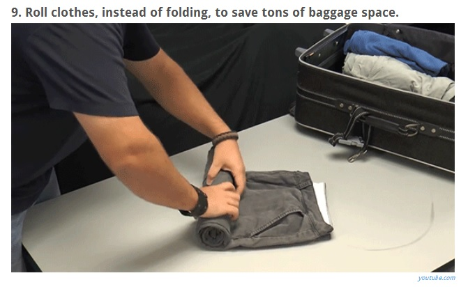 Tip - Roll Clothes