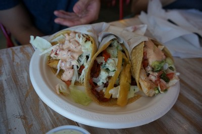 Delicious tacos from The Taco Stand