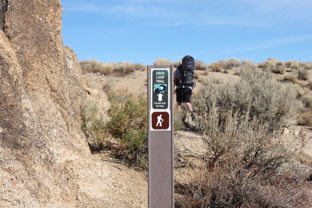 Mobius Arch trail signs