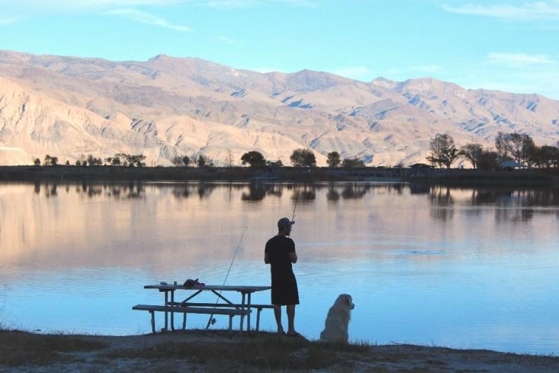 Fishing at Diaz Lake