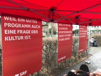 Stand der SRG in Aarau