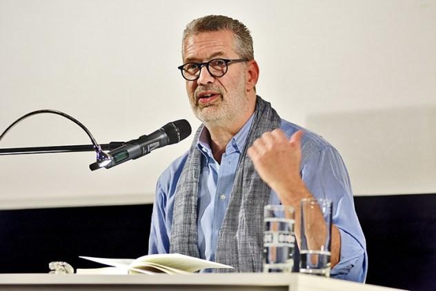 Richard C. Schneider bei seiner Lesung in Gütersloh, Bambi Filmkunstkino, Juni 2018