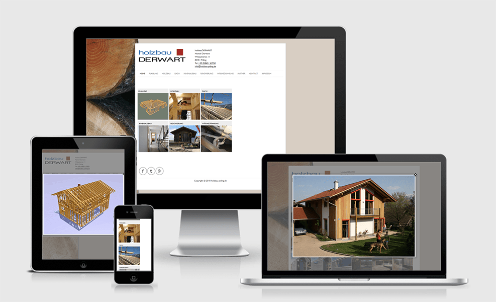 Holzbau Piding | WordPress-Seite