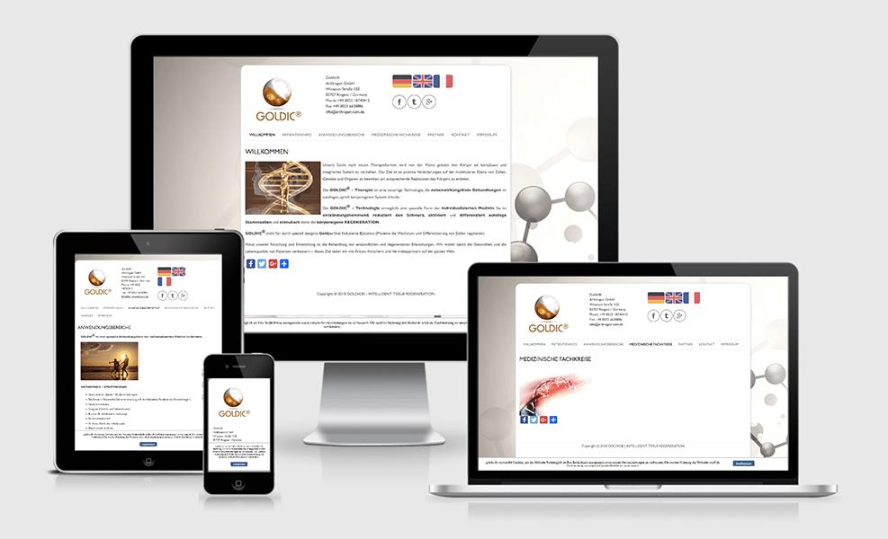 GOLDIC | WordPress-Seite