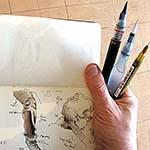 Peinture au lavis en 3 etapes
