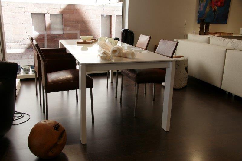 Tisch Bianco Glas Und Lack