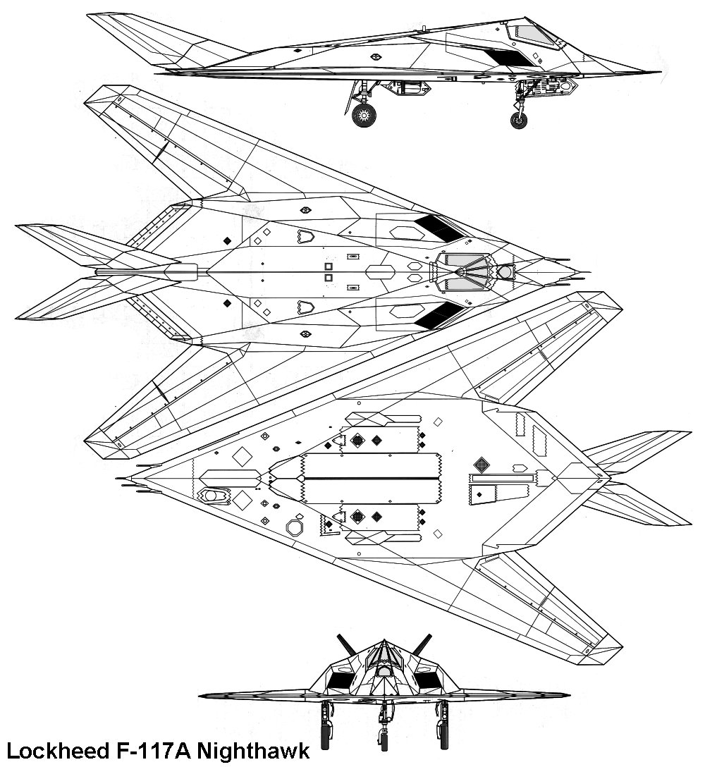 hight resolution of  lockheed f 117a nighthawk