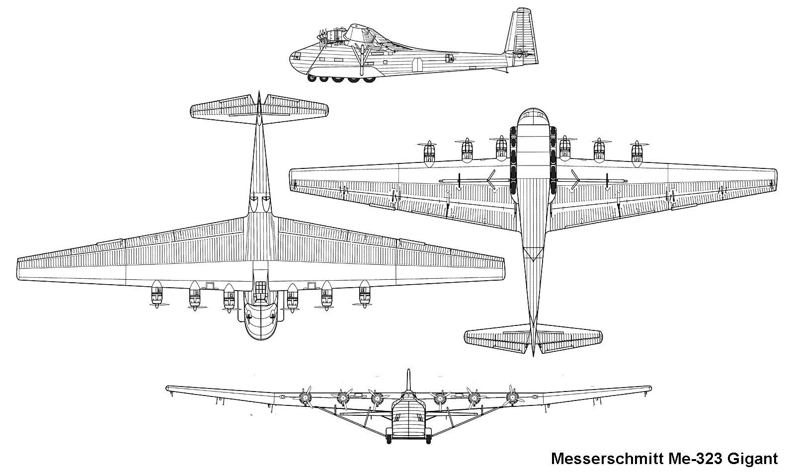 Messerschmitt Me 321 Gigant Amp Me 323 Gigant