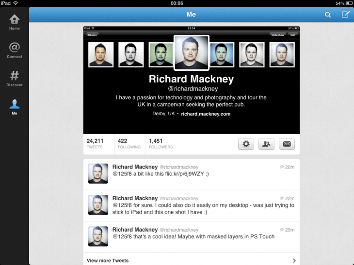 Make A Simple Twitter Header With iPad (1/4)