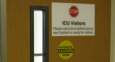 ICU Waiting Area, UWMC, 5E We watched this door open and close for 3 hours before we got to go through it.