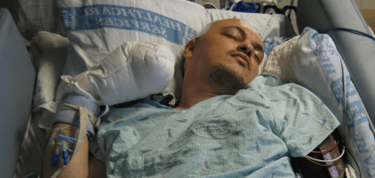 Mike in the ICU on Wednesday